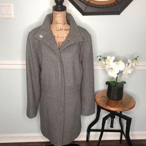 Esprit Gray Wool Blend Coat Size 2X
